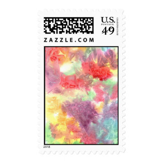 Pastel colorful watercolour background image postage stamps