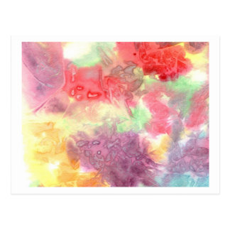 Pastel colorful watercolour background image post card