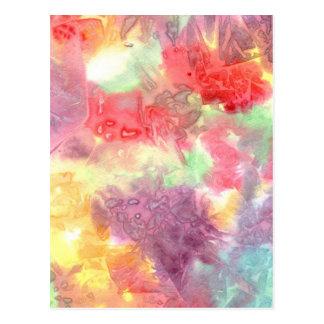 Pastel colorful watercolour background image postcards