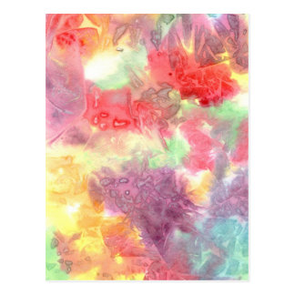 Pastel colorful watercolour background image post cards