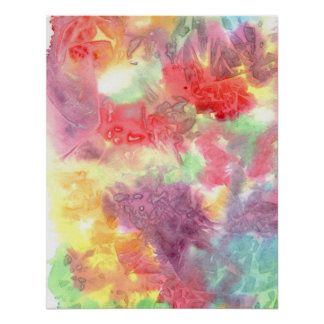 Pastel colorful watercolour background image print