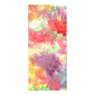 Pastel colorful watercolour background image custom rack card