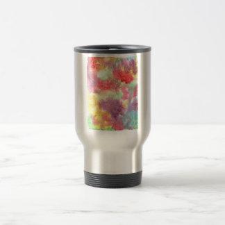 Pastel colorful watercolour background image travel mug