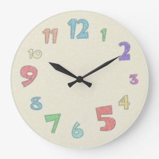 Pastel colorido reloj redondo grande