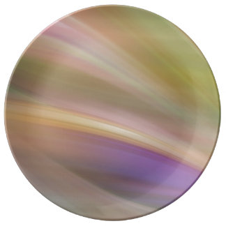 Pastel Colors Abstract Plate