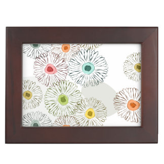 Pastel colors abstract spring flowers keepsake boxes