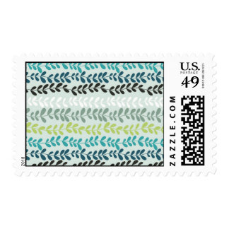 Pastel colors abstract spring flowers postage
