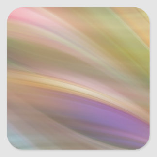 Pastel Colors Abstract Square Sticker