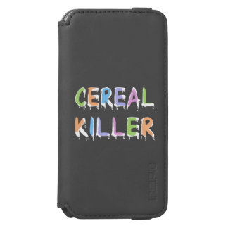 Pastel Colors Cereal Killer Pun iPhone 6/6s Wallet Case