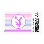 Pastel Colors Cheer or Pom Horizontal Stripes Stamp