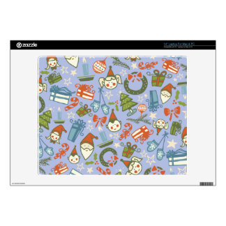 Pastel Colors Christmas Characters Pattern Laptop Decals