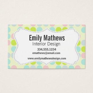 Pastel Colors, Dot Pattern Business Card