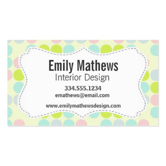 Pastel Colors, Dot Pattern Business Cards