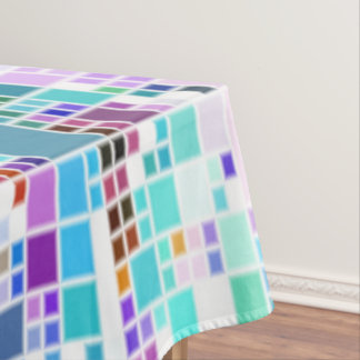Beautiful Pastel Colors Geometric Art Cool Tablecloth