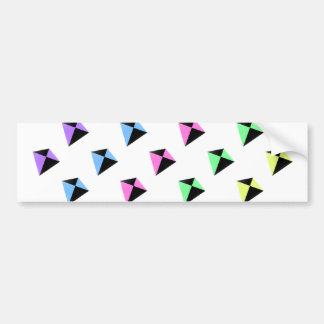 Pastel Colors Kite Pattern Car Bumper Sticker