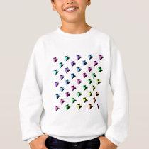 Pastel Colors Kite Pattern Sweatshirt