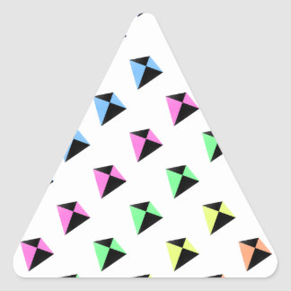 Pastel Colors Kite Pattern Triangle Sticker