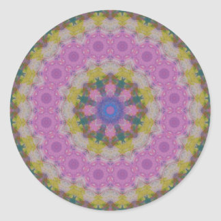 Pastel Colors Mandala Round Stickers
