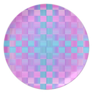 Pastel Colors  Mosaic Tile Pattern Dinner Plate