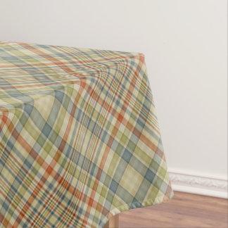 Pastel colors plaid pattern tablecloth
