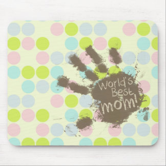 Pastel Colors, Polka Dot; Funny Mom Mouse Pad