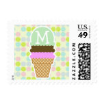 Pastel Colors, Polka Dot; Ice Cream Cone Postage