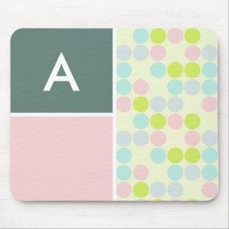 Pastel Colors Polka Dot Mouse Pads
