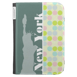 Pastel Colors, Polka Dot, NYC, statue of liberty Kindle Cases