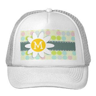 Pastel Colors, Polka Dot; Spring Flower Hats