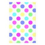 Pastel Colors Polka Dots Stationery Design