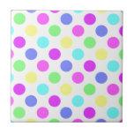 Pastel Colors Polka Dots Tiles