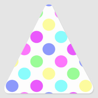 Pastel Colors Polka Dots Triangle Sticker