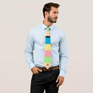 Pastel Colors Scale Print Tie
