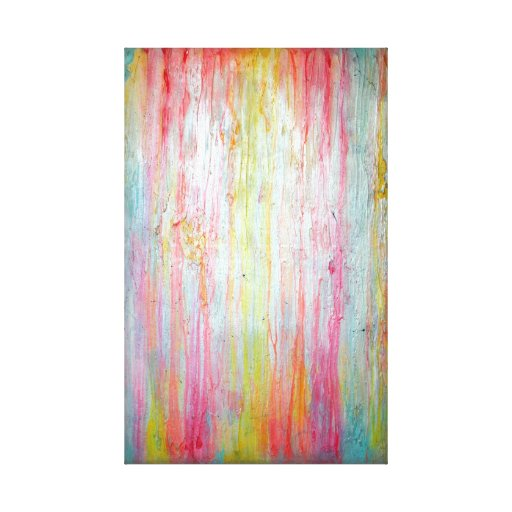 Pastel Colors Wall Art Gallery Wrapped Canvas Zazzle