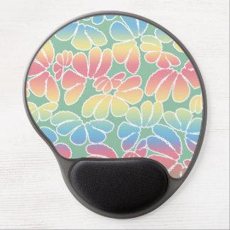 Pastel Colors Whimsical Ikat Floral Doodle Pattern Gel Mouse Pad
