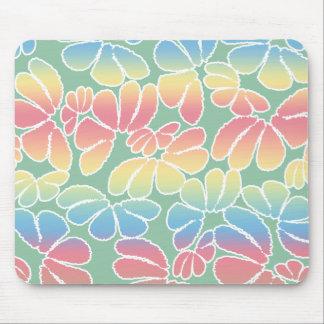 Pastel Colors Whimsical Ikat Floral Doodle Pattern Mouse Pad