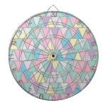 Pastel Colour Triangle Pattern Dartboards