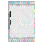 Pastel Colour Triangle Pattern Dry Erase Whiteboard