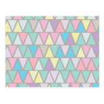 Pastel Colour Triangle Pattern Post Card