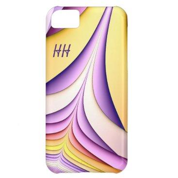 Pastel coloured fractal. Add monogram. Case For iPhone 5C