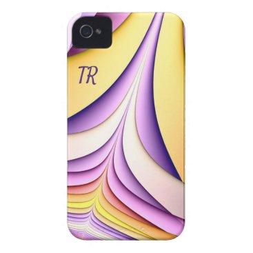 Pastel coloured fractal. Add monogram. Case-Mate iPhone 4 Case