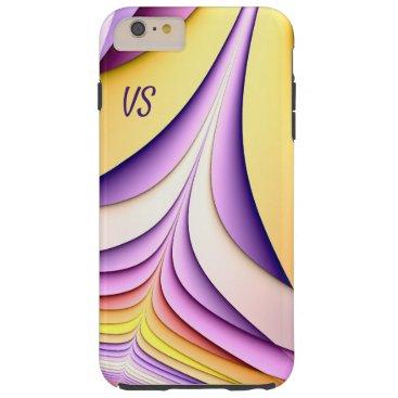 Pastel coloured fractal. Add monogram. Tough iPhone 6 Plus Case