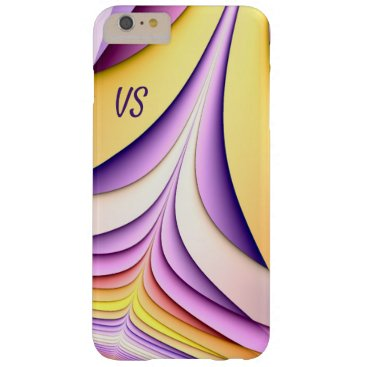 Pastel coloured fractal. Add monogram. Barely There iPhone 6 Plus Case