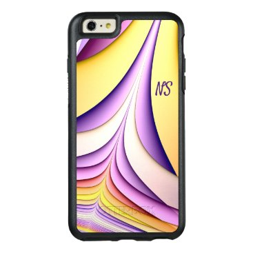 Pastel coloured fractal. Add monogram. OtterBox iPhone 6/6s Plus Case