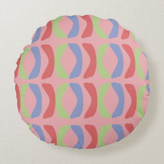 Pastel Communication Round Pillow