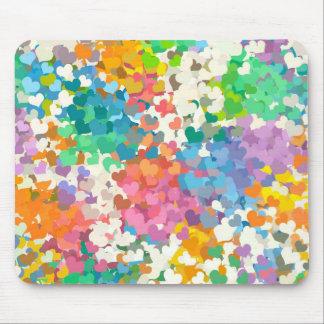 Pastel Confetti Hearts Mouse Pad