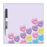 Pastel Conversation Hearts Dry-Erase Board