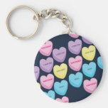 Pastel Conversation Hearts Key Chains