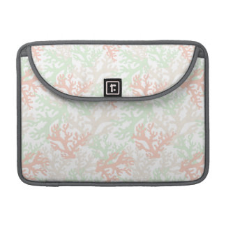 Pastel Coral Pattern Sleeve For MacBook Pro
