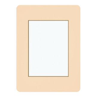 """Pastel coralino de Angelskin del melocotón pálido Invitación 5.5"""" X 7.5"""""""